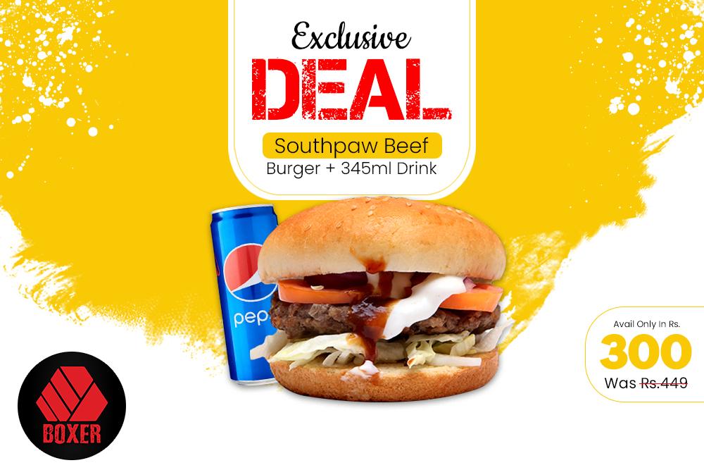 Beef  Burger Deal
