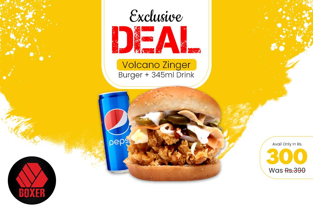 Volcano Burger Deal