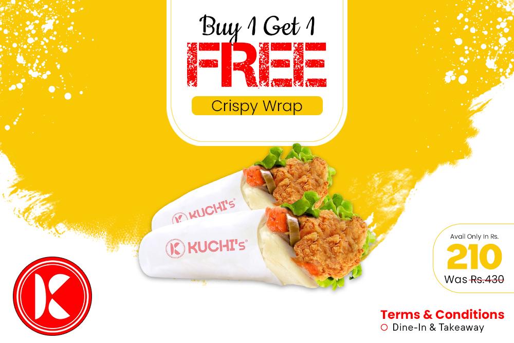 B1G1 Crispy Wrap Deal