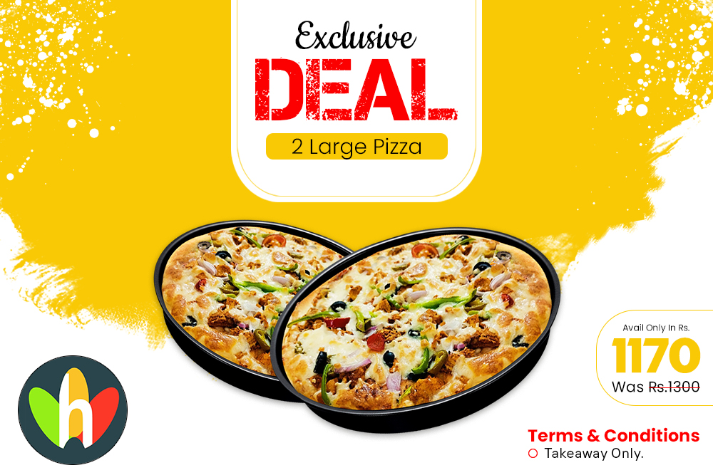 2 Large Pizza Deal
