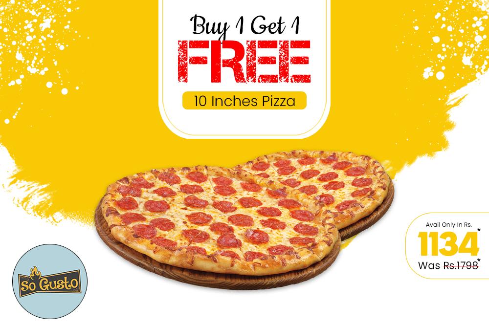 B1G1 10 Inch Pizza