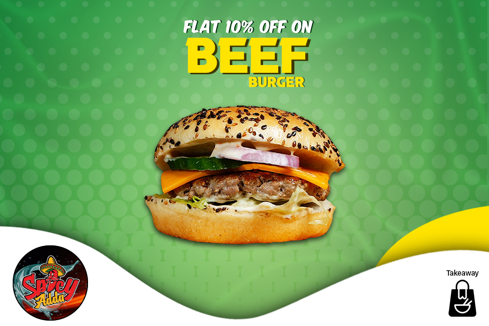 10% Off on Beef Burgers